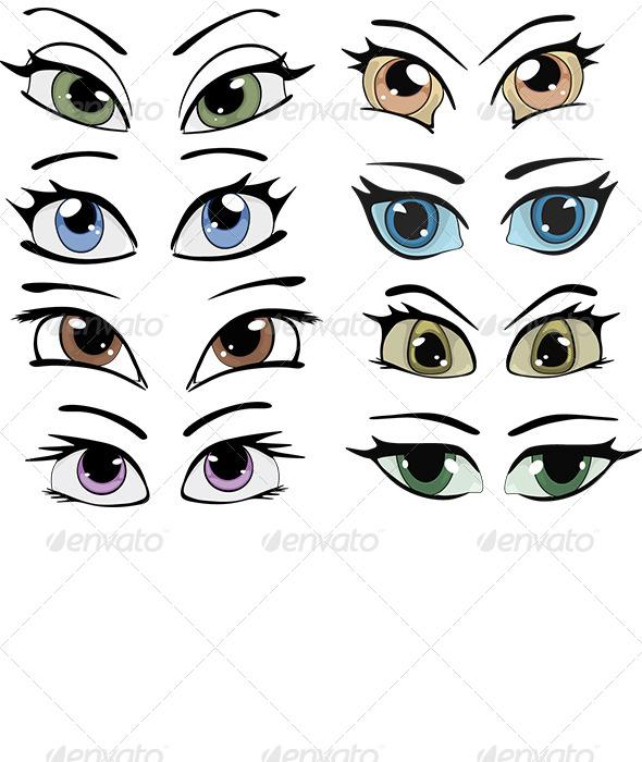 Drawn Eyes Clip Art - Objects Vectors