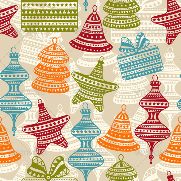 Vector  Bright Seamless Winter Pattern - Patterns Decorative