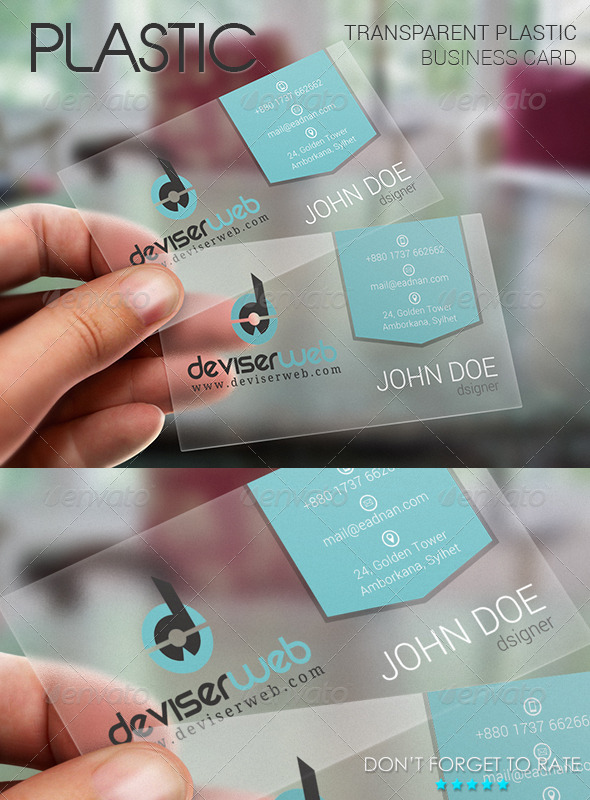 Transparent plastic business card by rtralrayhan graphicriver transparent plastic business card creative business cards reheart Gallery