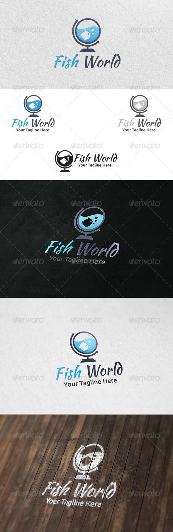 Fish World - Logo Template - Animals Logo Templates