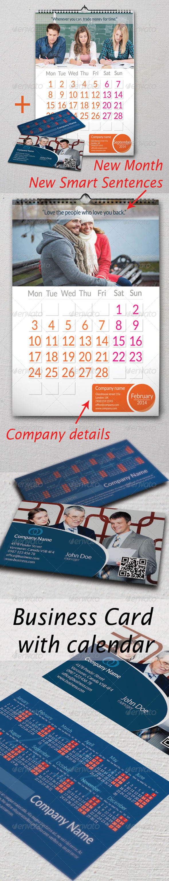 Calendar & Business Card - Calendars Stationery