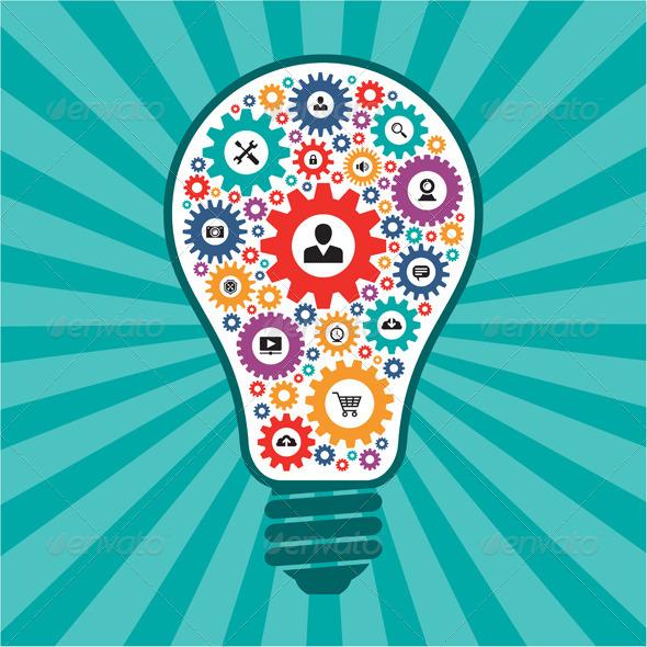 Creative Idea Lamp - Technology Conceptual