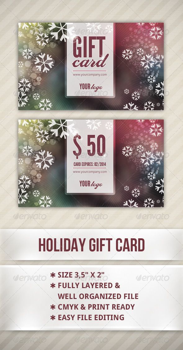 Holiday Gift Card - Cards & Invites Print Templates