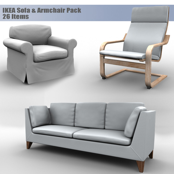 IKEA Sofa & Armchair Pack - 3DOcean Item for Sale