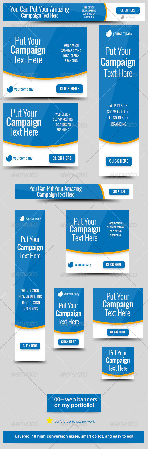 Bluestatic Web Banner By Admiraladictus Graphicriver