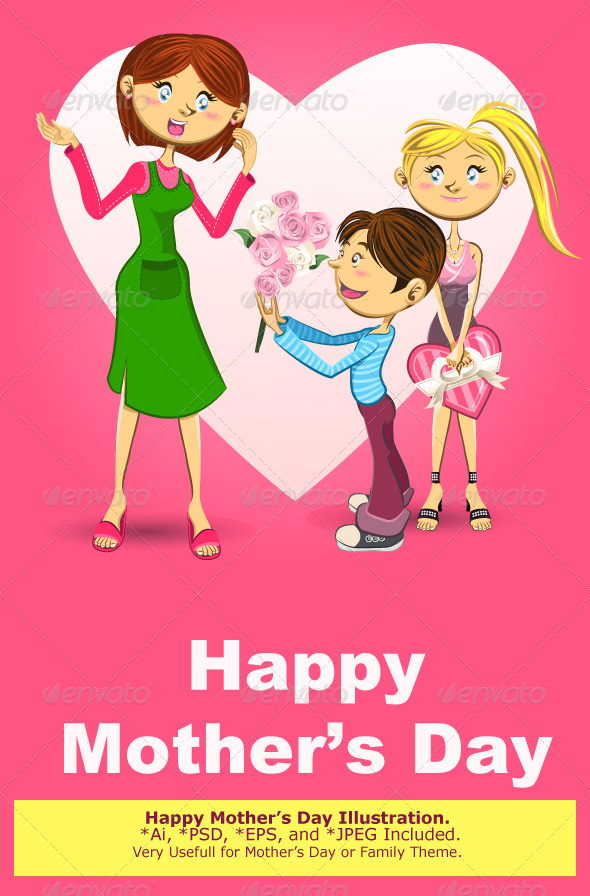 Happy Mother's Day Illustration - Miscellaneous Seasons/Holidays