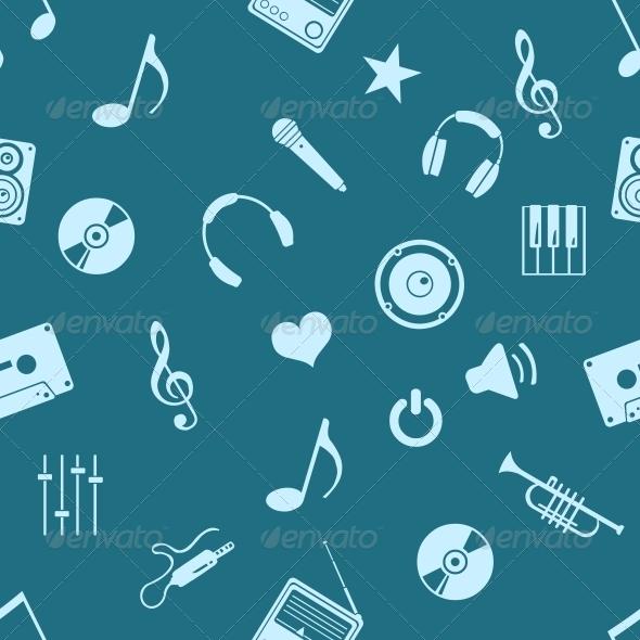 Vector Seamless Music Pattern - Patterns Decorative