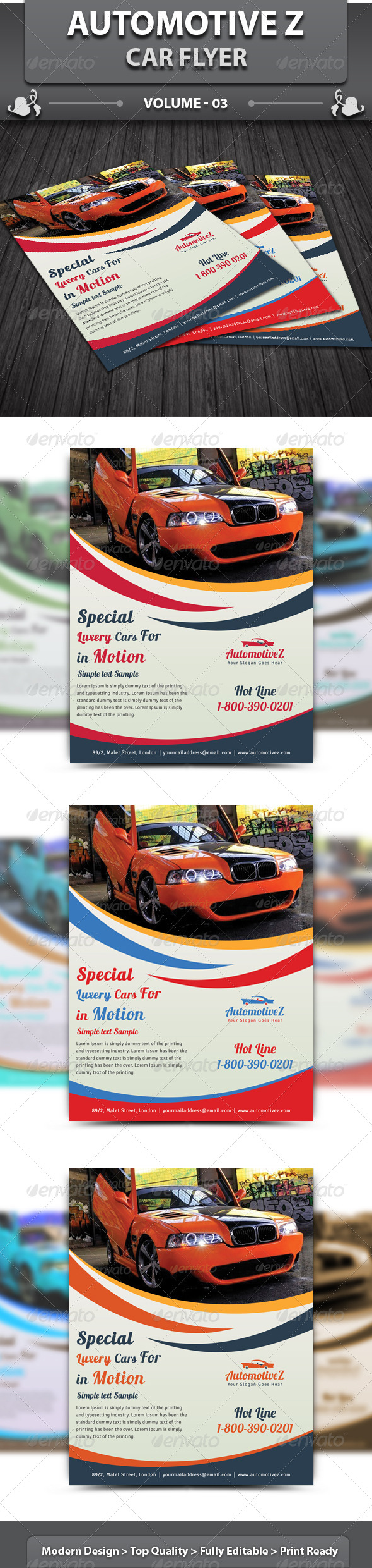 Automobile Business Flyer | Volume 3 - Corporate Flyers