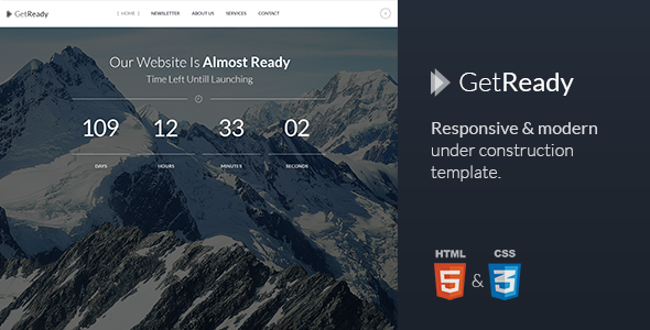 GetReady – Responsive Under Construction Template
