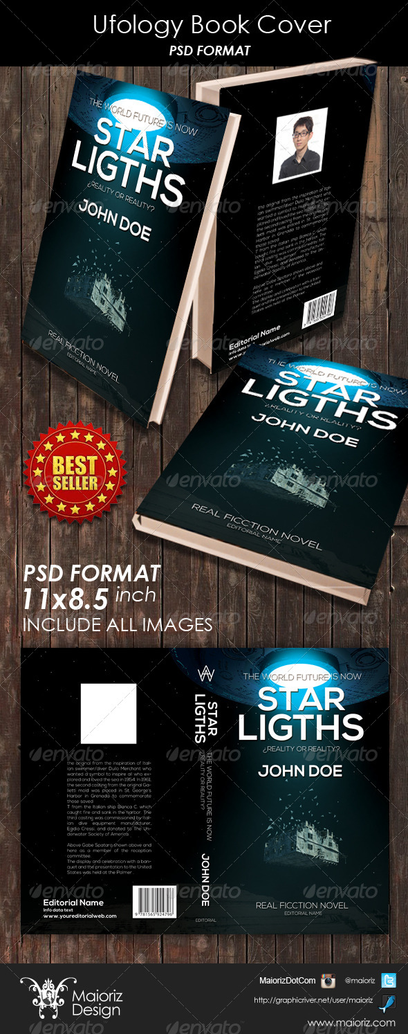 Ufology Book Cover - Miscellaneous Print Templates