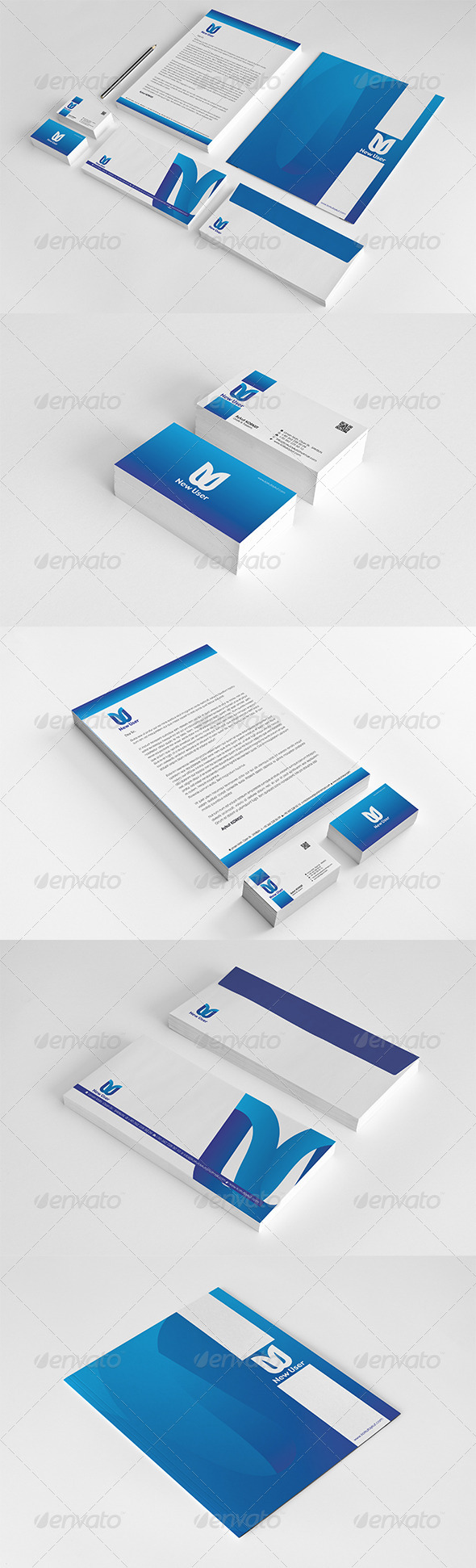New User Corporate Identity Package  - Stationery Print Templates