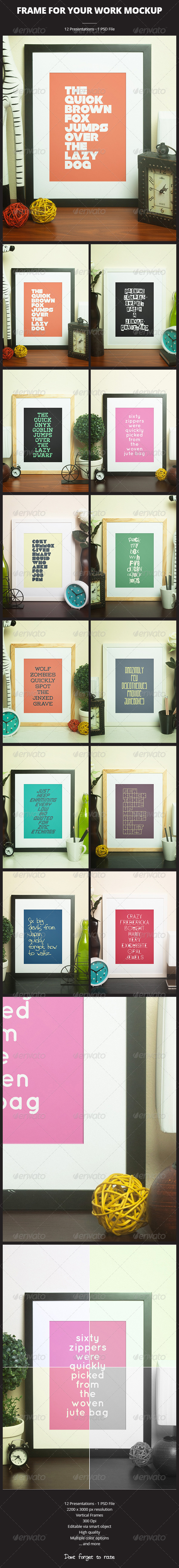 Frame For Your Work - Print Product Mock-Ups
