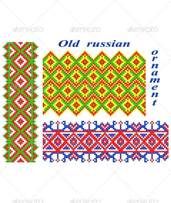 Old Russian Ornaments. - Patterns Decorative