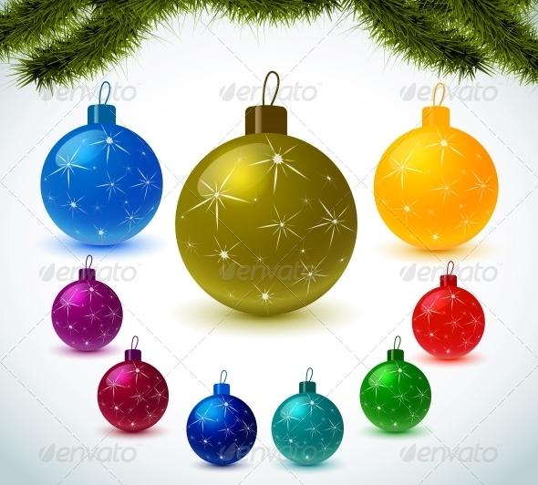 Christmas Colorful Balls - Christmas Seasons/Holidays