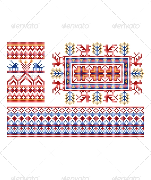 Old russian ornament. - Patterns Decorative