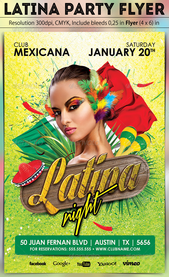 Latina Party Flyer - Clubs & Parties Events