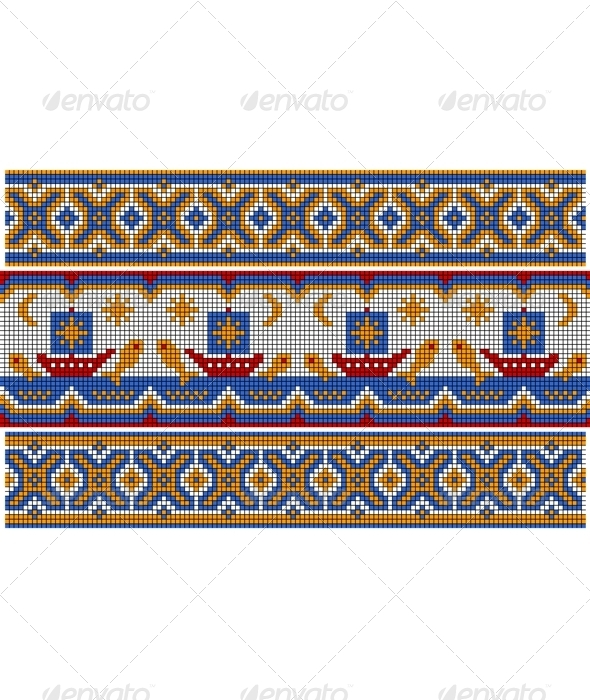 Old Ethnic Ornament. - Patterns Decorative