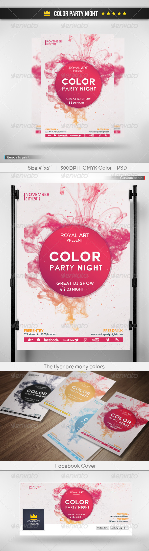 Color Party Night  - Clubs & Parties Events