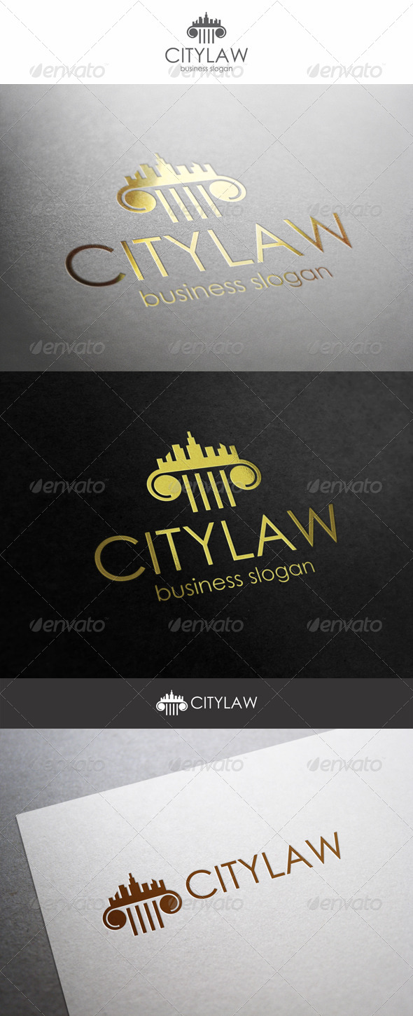 City Law Logo Firm - Buildings Logo Templates