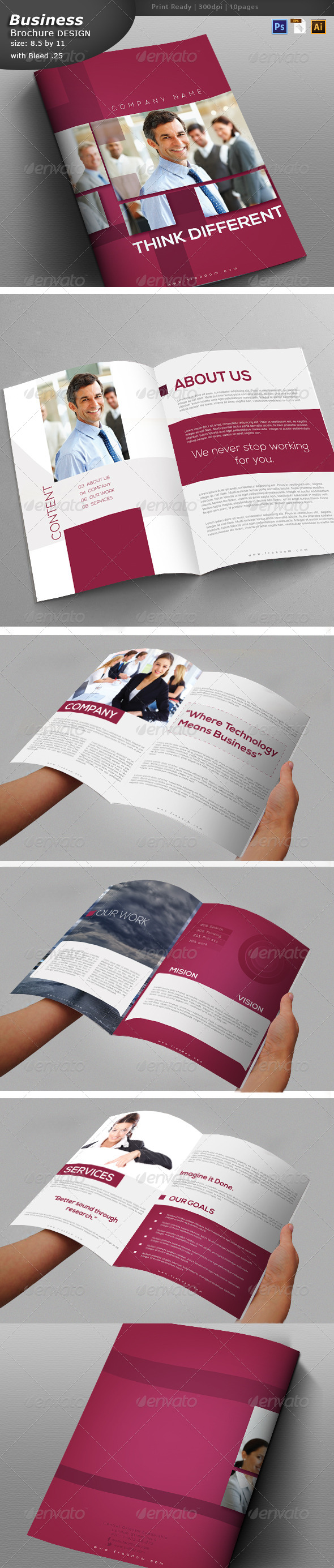 Services Brochure Design  - Brochures Print Templates