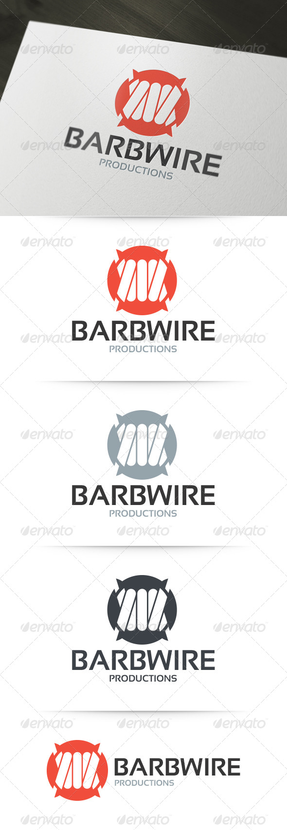 Barbwire Logo Template - Objects Logo Templates