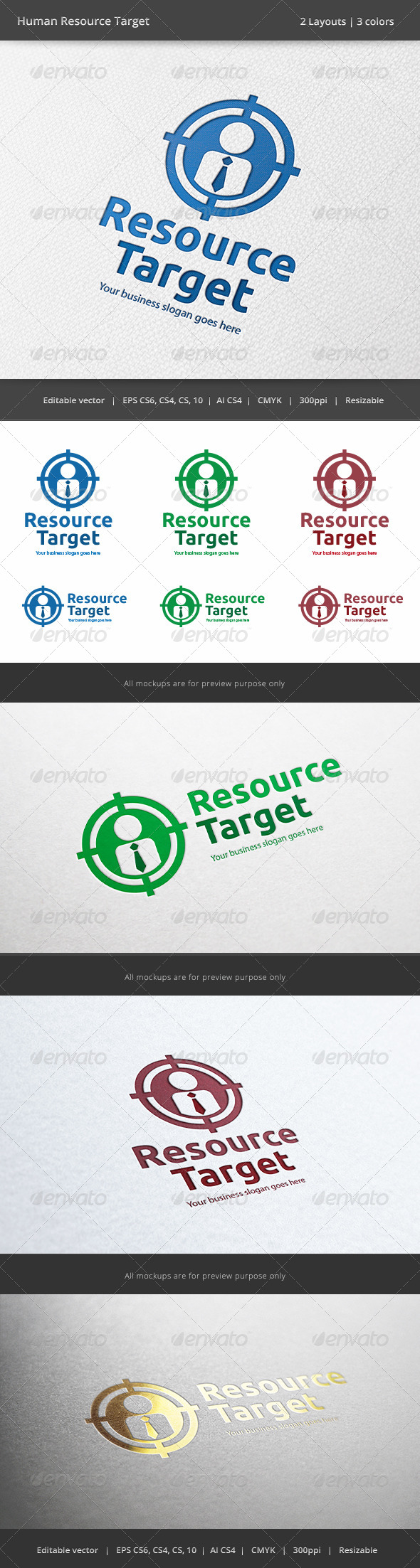 Human Resource Target Logo - Humans Logo Templates