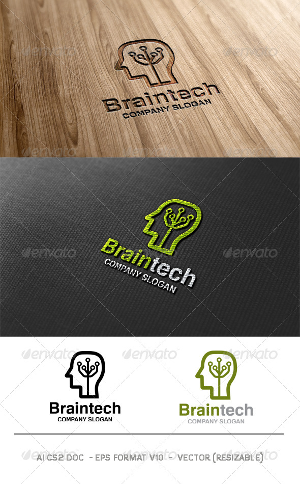 Brain Tech Logo - Humans Logo Templates