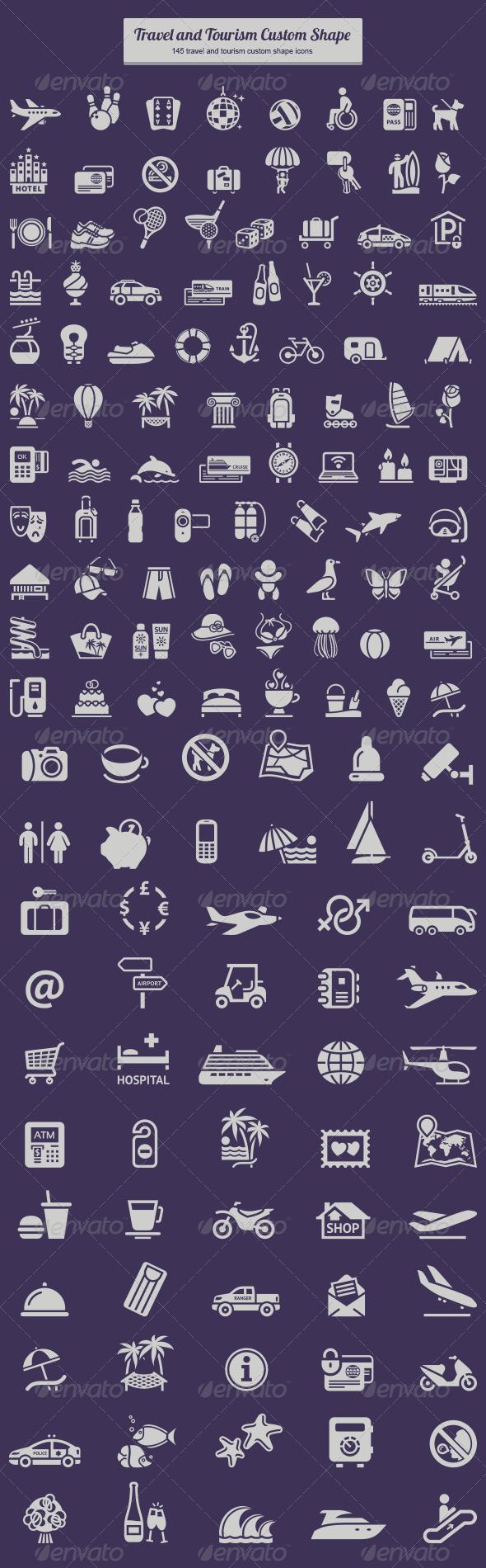 Travel and Tourism Custom Shape