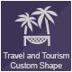 Travel and Tourism Custom Shape - GraphicRiver Item for Sale