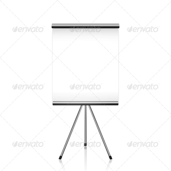 Projector Screen Tripod on White - Man-made Objects Objects