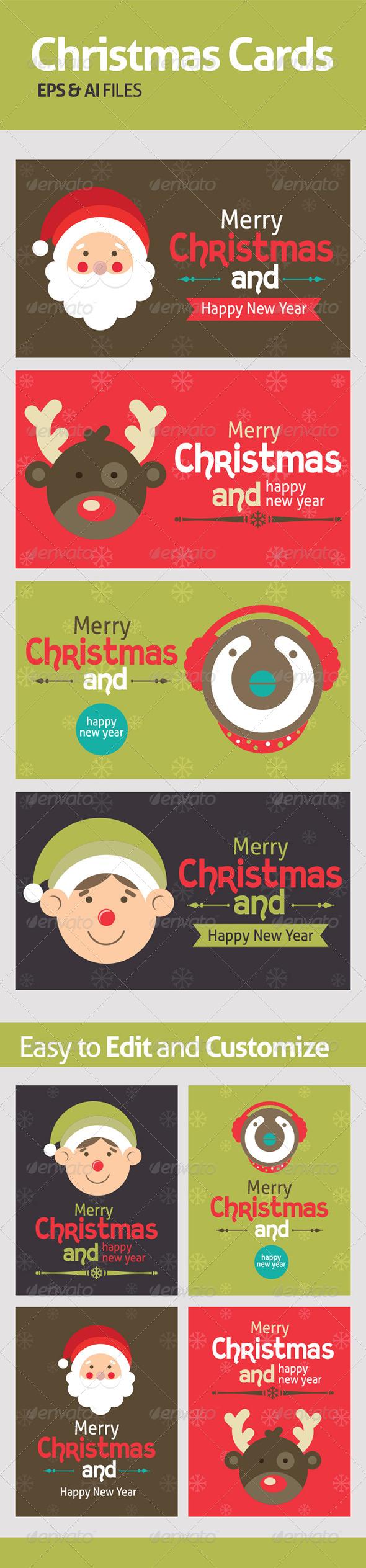 Vectors for Chrismas Cards - Seasons Nature