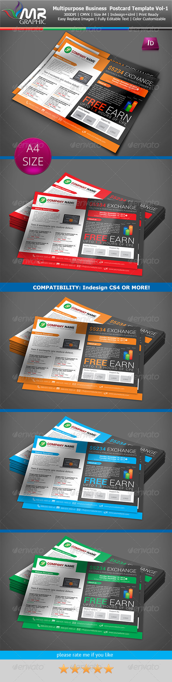 Multipurpose Business Flyer Template Vol-06 - Cards & Invites Print Templates