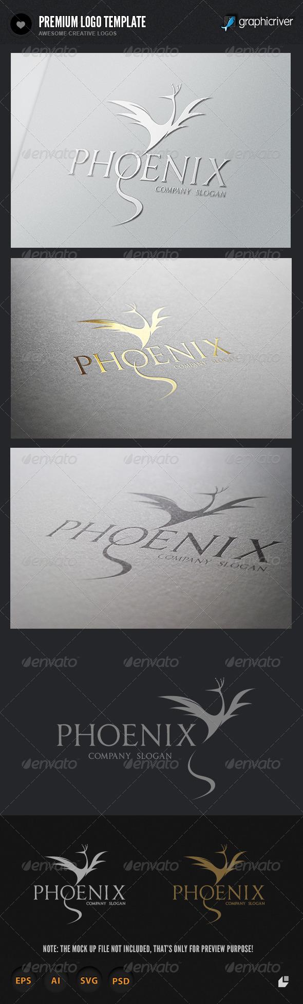 Pheoenix  Brand Logo  - Crests Logo Templates