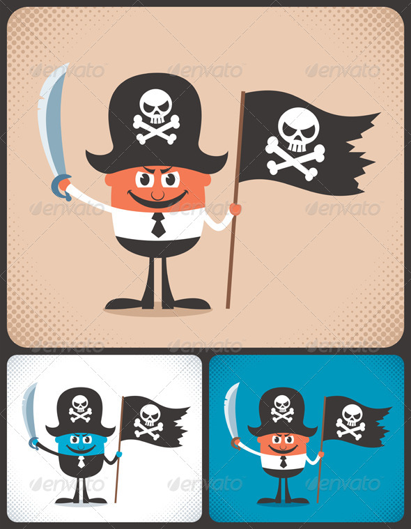 Pirate Businessman - People Characters