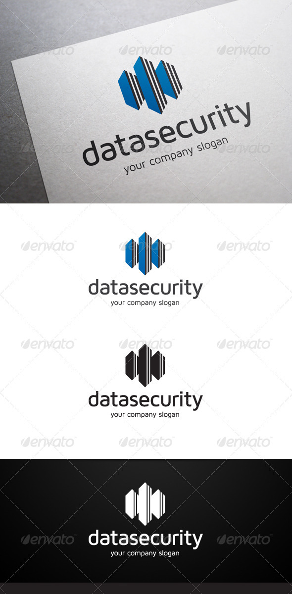 Data Security Logo - Objects Logo Templates