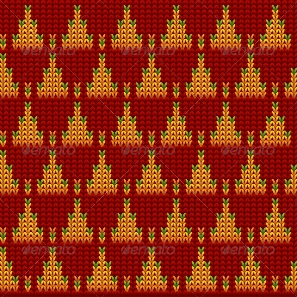Knitted Wool Vector Background - Backgrounds Decorative