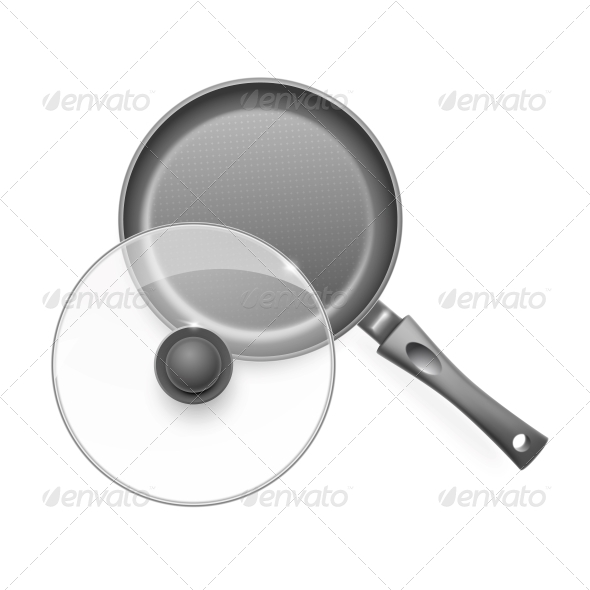 Frying Pan with Glass Lid. - Man-made Objects Objects