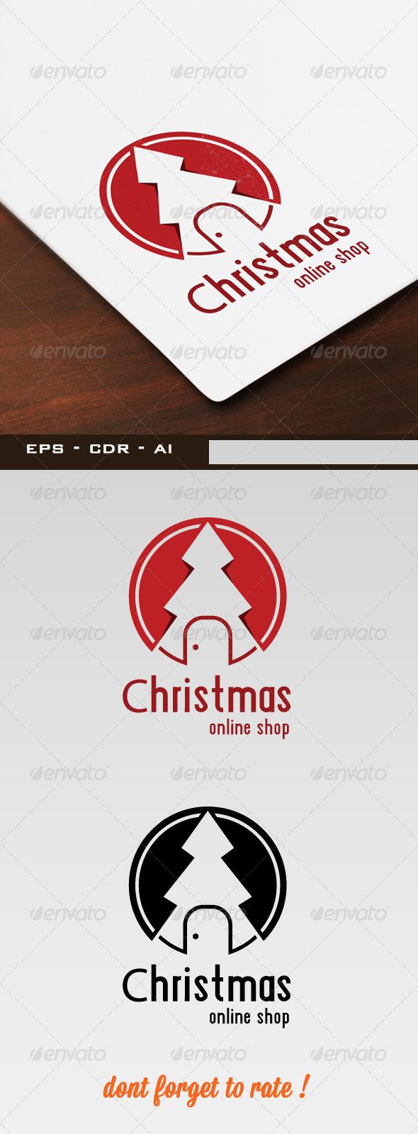 Christmas Shop Flat Logo - Symbols Logo Templates