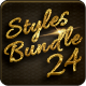 Bundle 24 Luxury Styles: Golden, Silver & Chrome - GraphicRiver Item for Sale