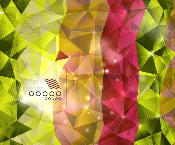 Shiny Triangles Geometric Shape Background - Backgrounds Business
