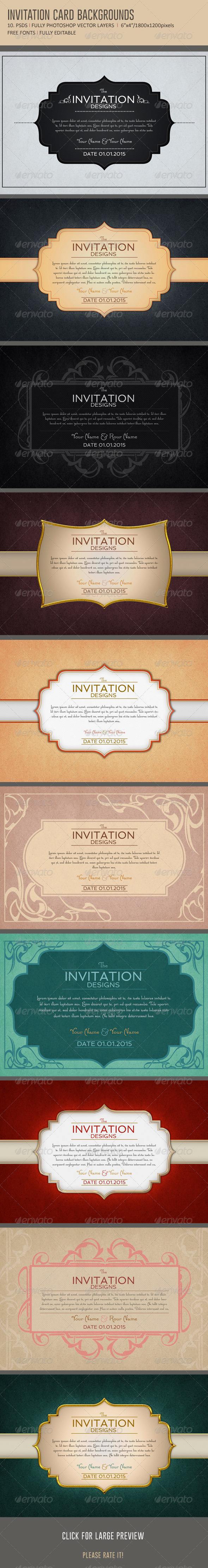 Invitation Card Backgrounds - Backgrounds Graphics