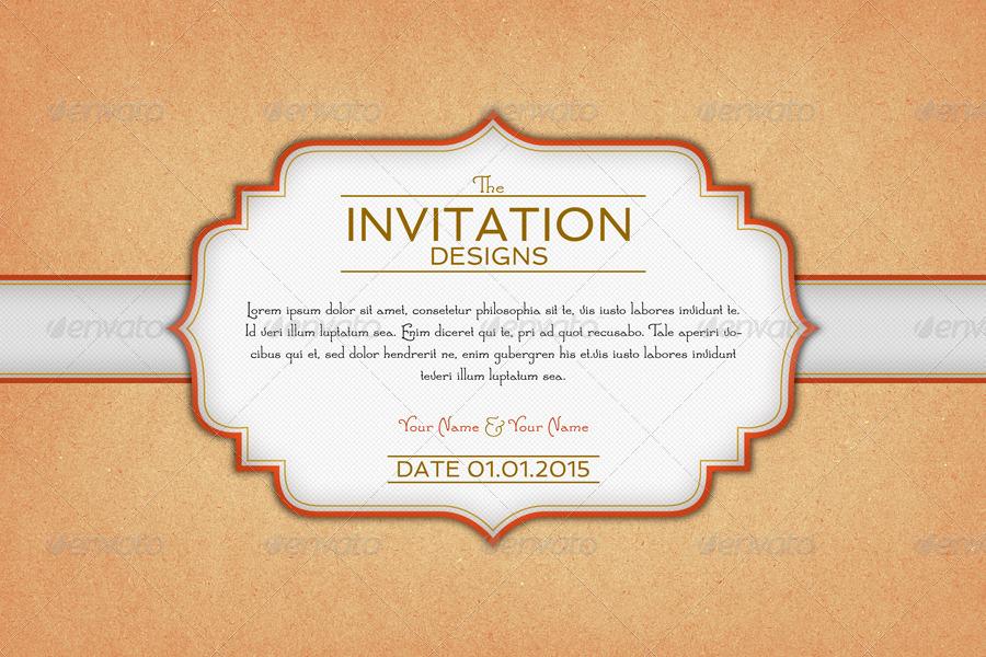 Invitation Card Backgrounds By Creativeartx Graphicriver