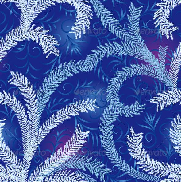 Seamless Frost Ornament - Flourishes / Swirls Decorative