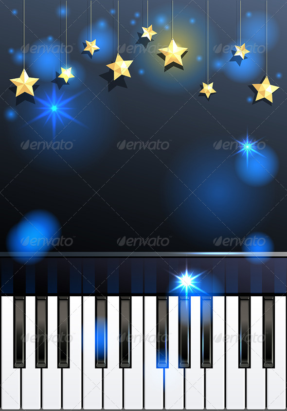 Piano and Stars - Miscellaneous Seasons/Holidays