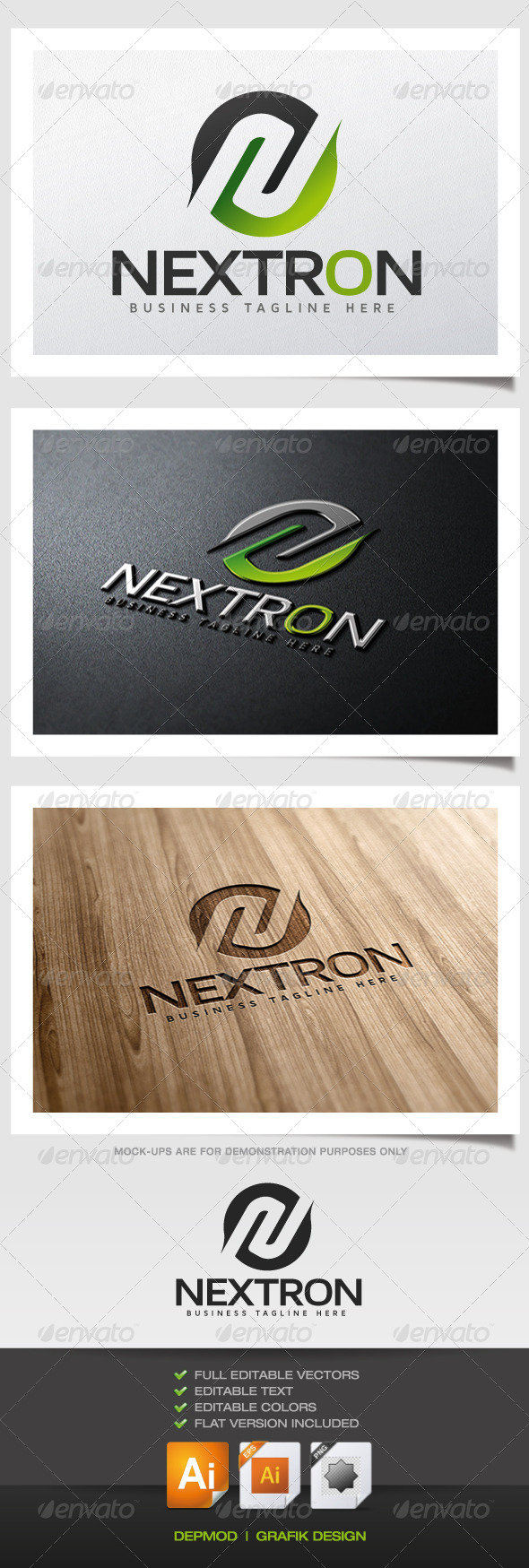 Nextron Logo - Abstract Logo Templates