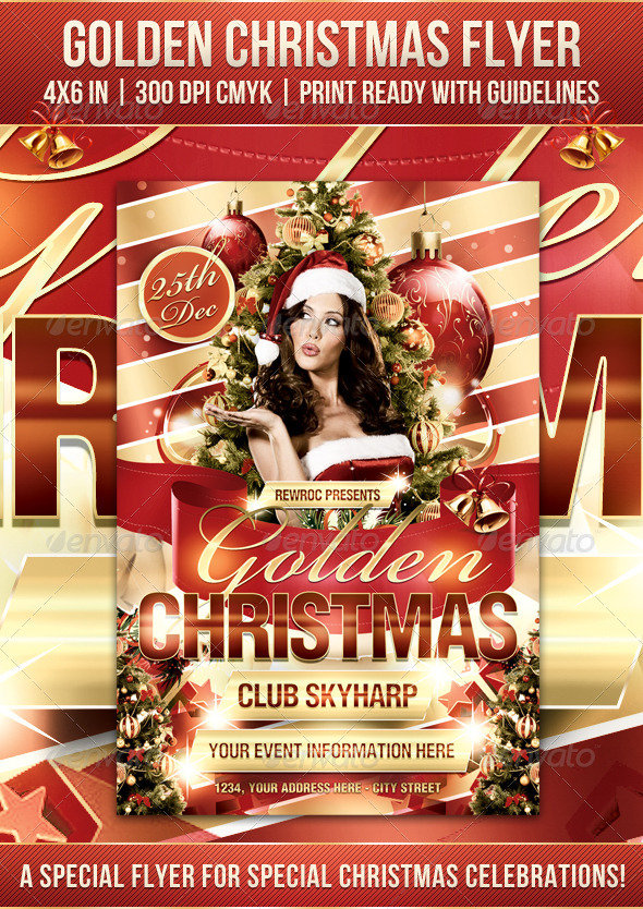 Golden Christmas Flyer - Holidays Events