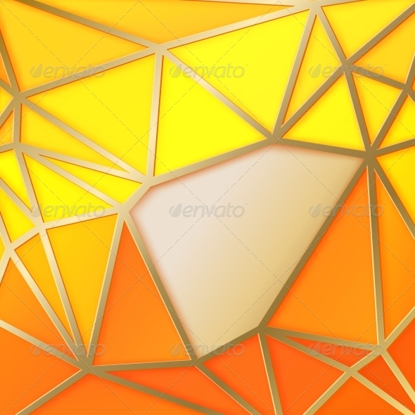 Triangles in Gold - Abstract Conceptual