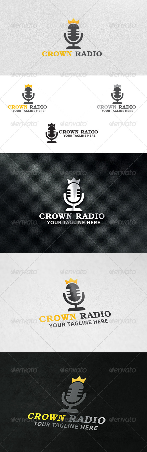Crown Radio - Logo Template - Symbols Logo Templates