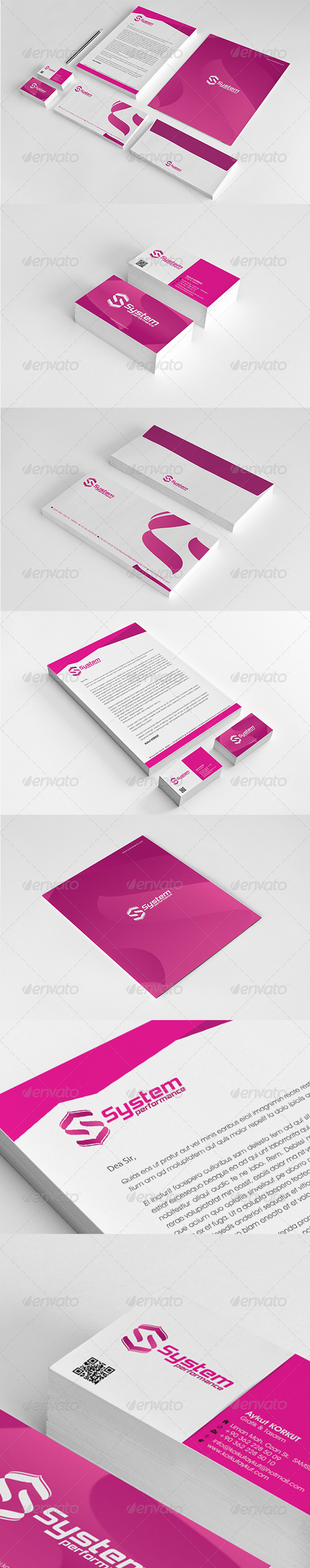 System Performance Corporate Identity Package  - Stationery Print Templates