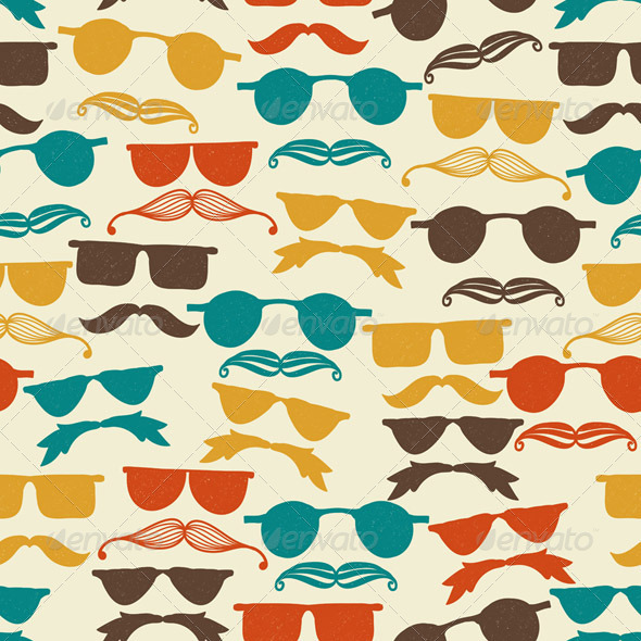 Vector Seamless Hipster Pattern - Patterns Decorative